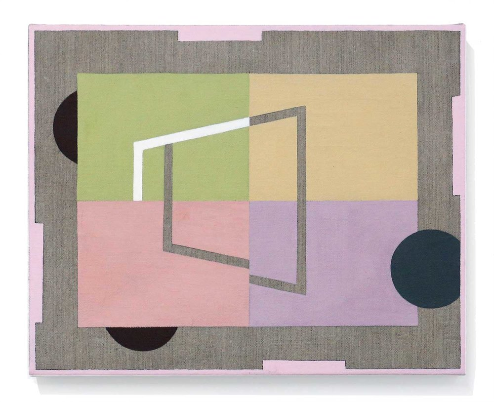 Floorplan With Rug      16 x 20 in, Oil on linen, 2016