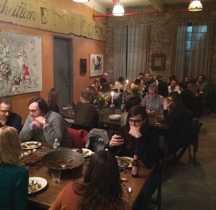"""Xaymaca/Queens,"" an intimate dinner hosted by Eric May's underground supper club ""Piranha Club"" with collaborative chef Paul Anthony Smith, Saturday March 28, 2015."