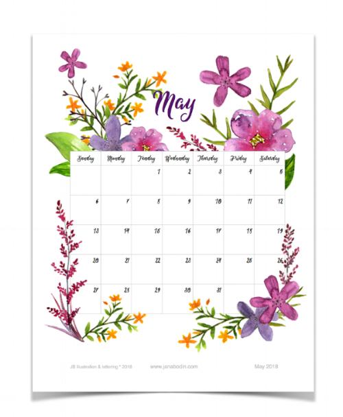 May 2018 printable