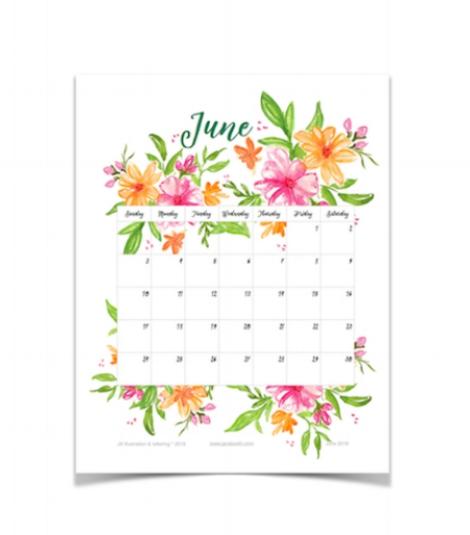June 2018 printable