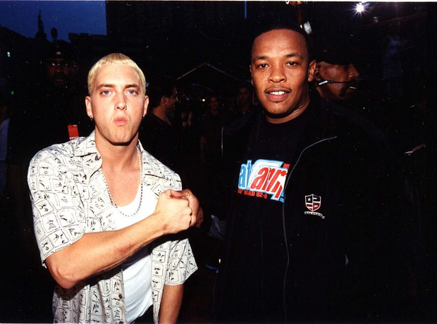 Eminem and Dr. Dre in the Late 90s.