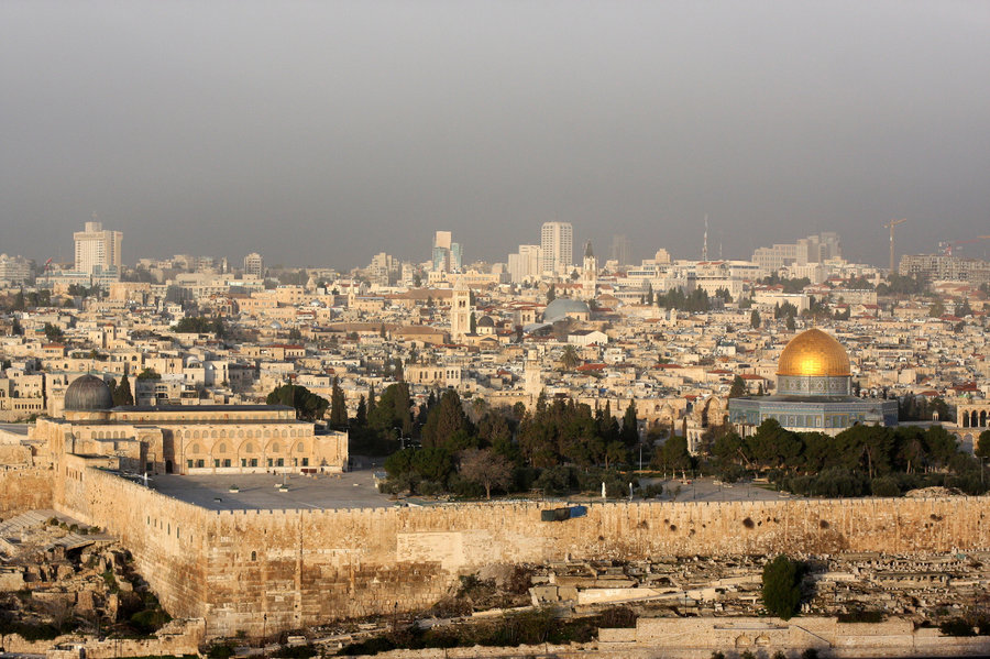 Aerial shot of Jerusalem