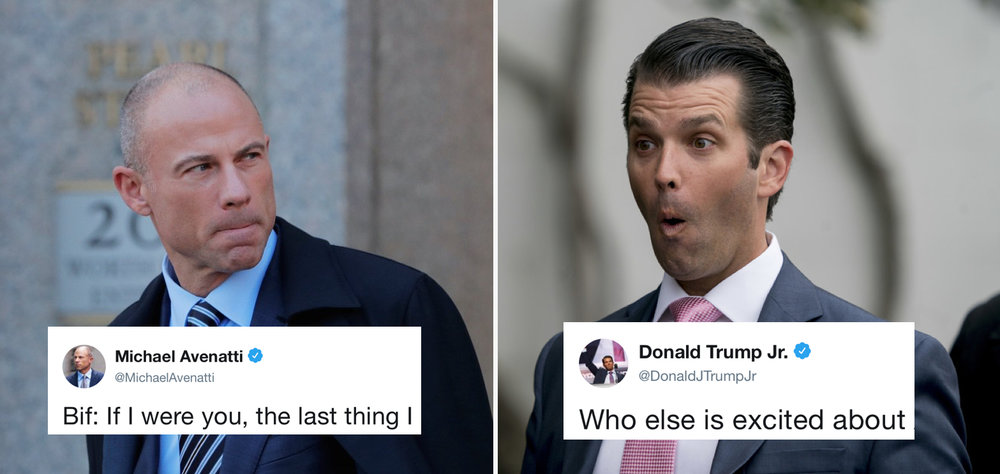 Avenatti and Trump Jr. trade jabs on Twitter