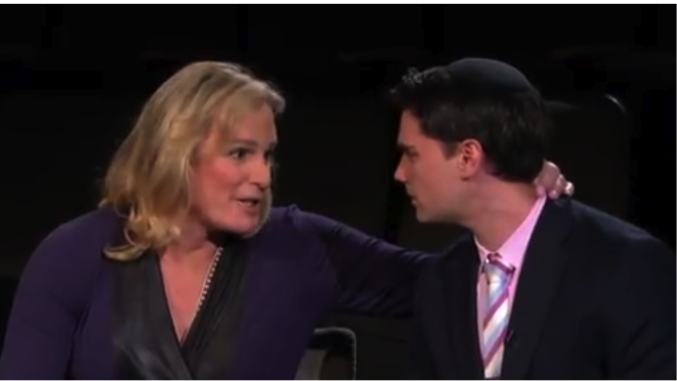 Conservative Ben Shapiro is threatened during a political discussion