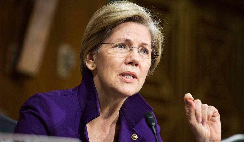 Elizabeth Warren on Capital Hill.