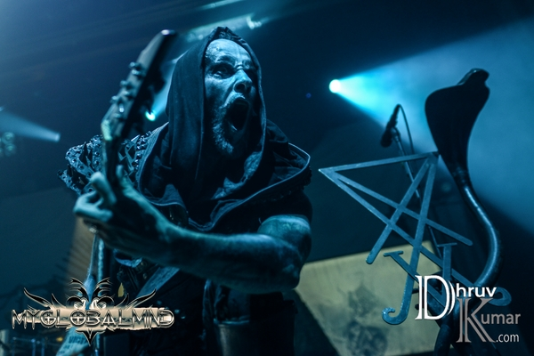 "Behemoth's Adam ""Nergal"" Darski on stage. Photo by Dhruv Kumar"