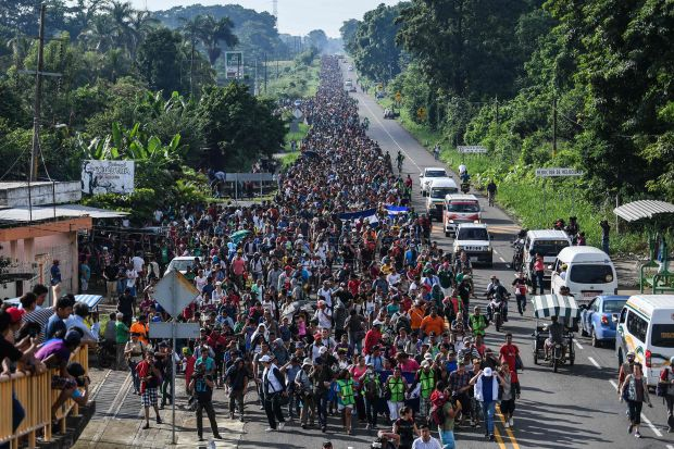 The U.N. has assessed the number of migrants in the caravan to currently exceed 7,000