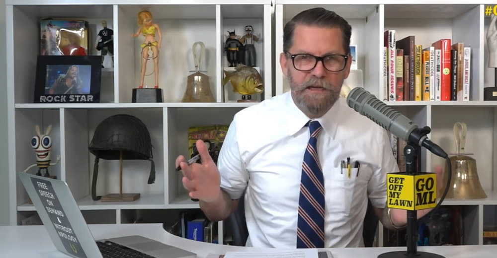 Proud Boys Founder Gavin McInnes (above) has hosted his CRTV show 'Get Off My Lawn' since September, 2017