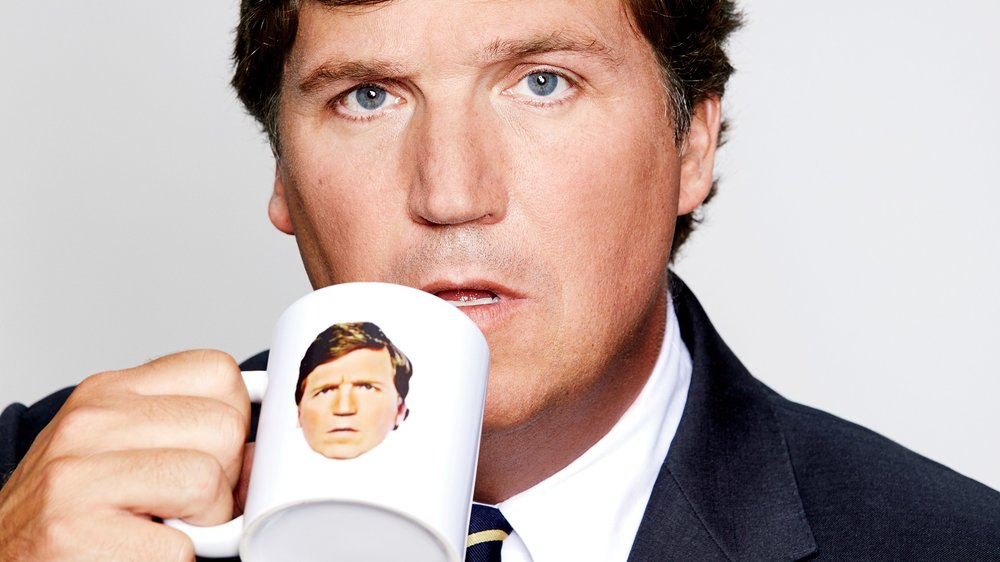 Tucker Carlson kicking himself out of the country
