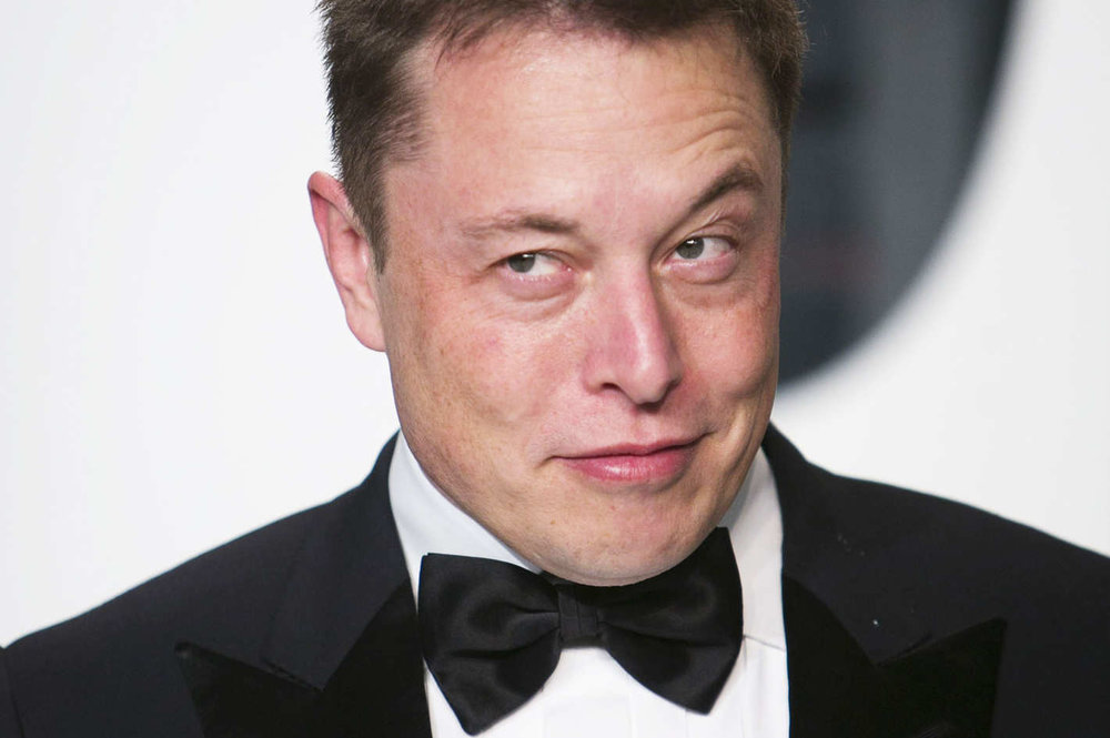 Demon Elon Musk in the flesh; we're not even sure what his thoughts on the border wall are…
