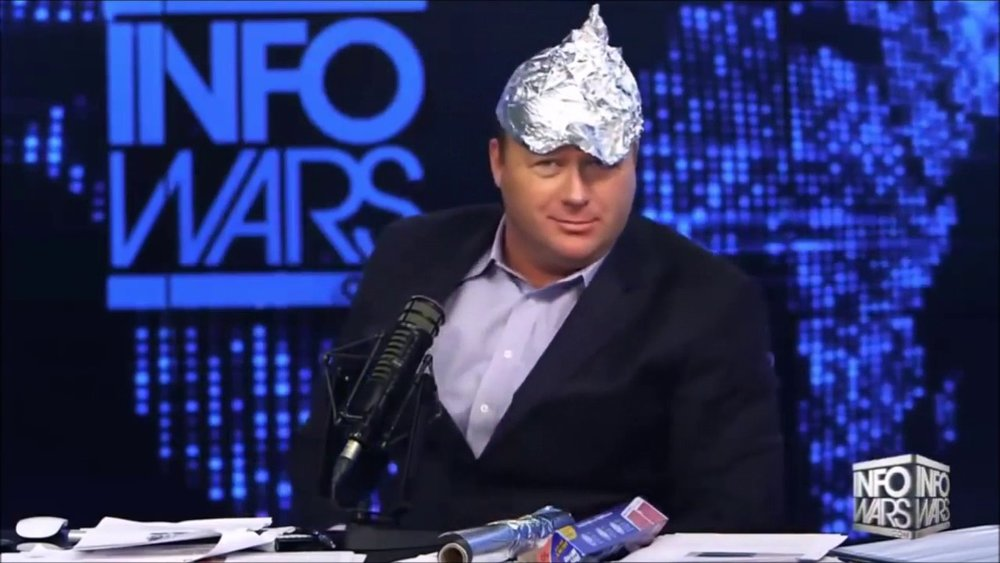 Alex Jones  before  he went crazy (that was a joke, but it was actually quite sad)