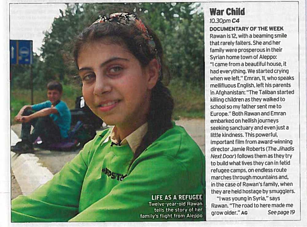 War Child - Radio Times 11.03.17