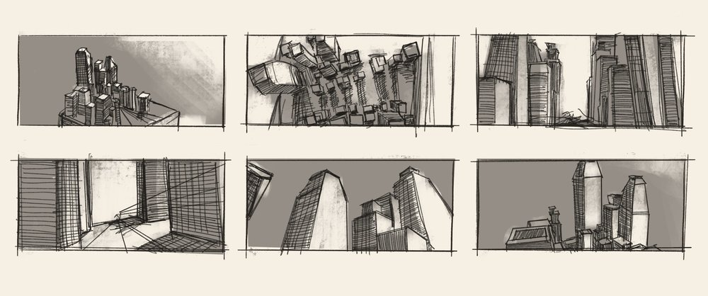 This is the initial sketch of what inspired how I wanted my VR world to be. It's the first step in the pipeline.