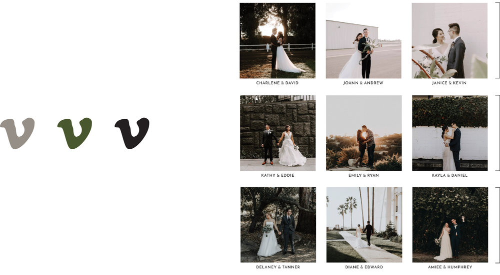 Easy Accessibility - It's important for our couples to get to the videos as easily as possible. The main focus should always be the couple and letting their love story become a fairytale. Each image/button leads to a page with a simple video.