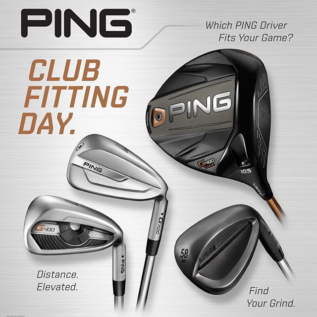 Ping Fitting day at Pine Creek on May 25th from 2:00pm-7:00pm. Call or stop in the golf shop to schedule your appointment to get fit.