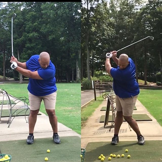 Some great results from Waymon here after he learned how to make a full shoulder turn in the backswing. This and a grip adjustment resulted in a higher and straighter shots.
