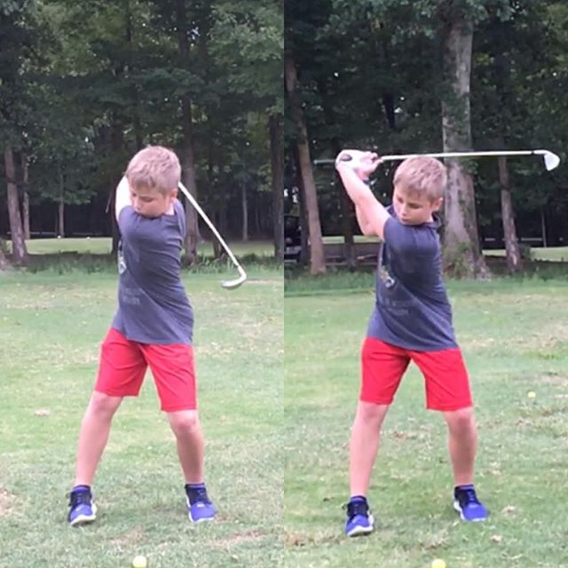 Top of the backswing upgrades from T-Cat here. We made the improvements mainly by going to a more radial trail hand grip. @scottcowxcertified 🦆