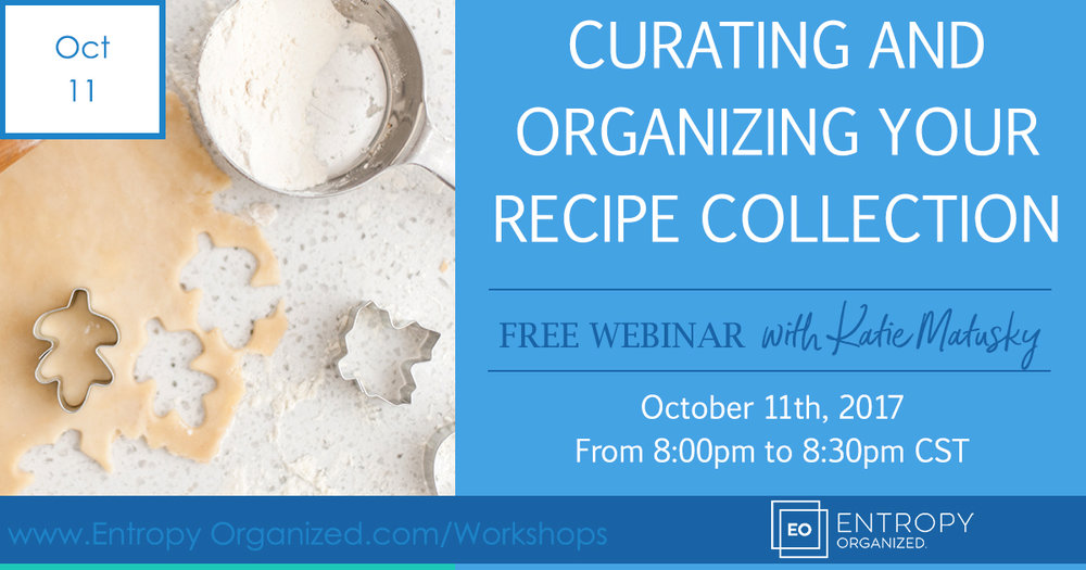 Curating & Organizing Your Recipe Collection