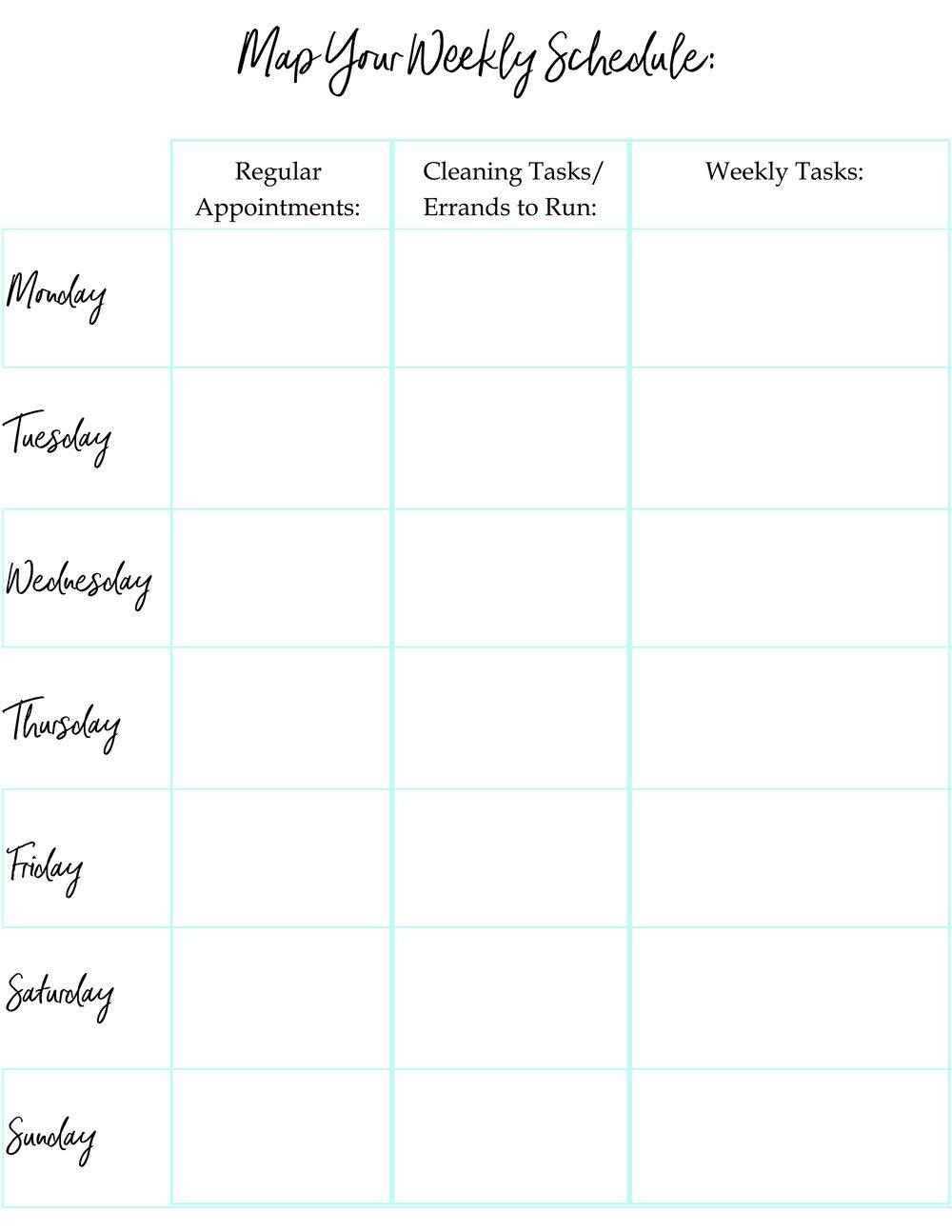 Task Planning Map -