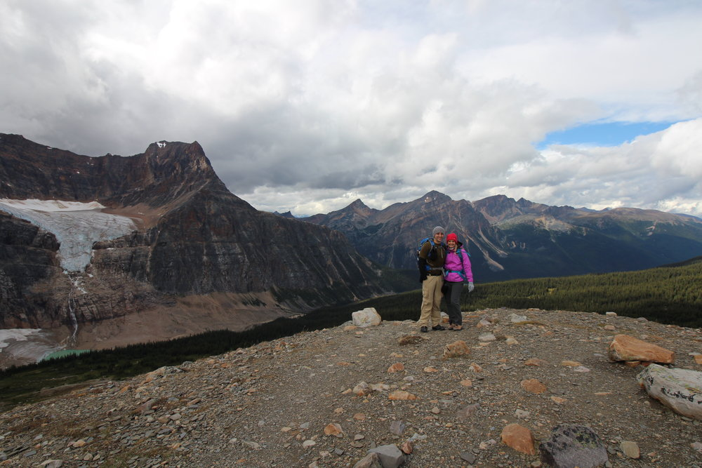 At the Peak of Mount Edith Cavell, Jasper, AB Canada