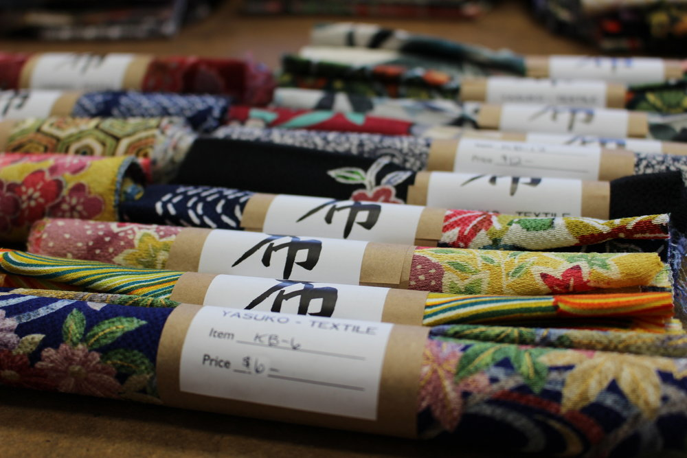 Narrow Rolls of Vintage Kimono Silk - Come in different sizes