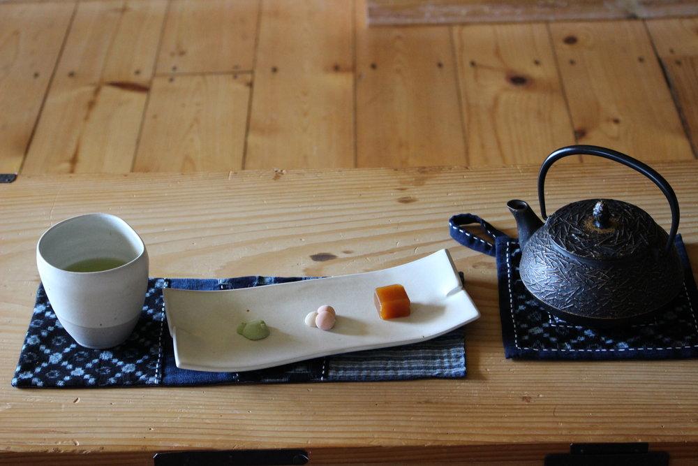 Aizome Kata/Kasuri Tea Mat -