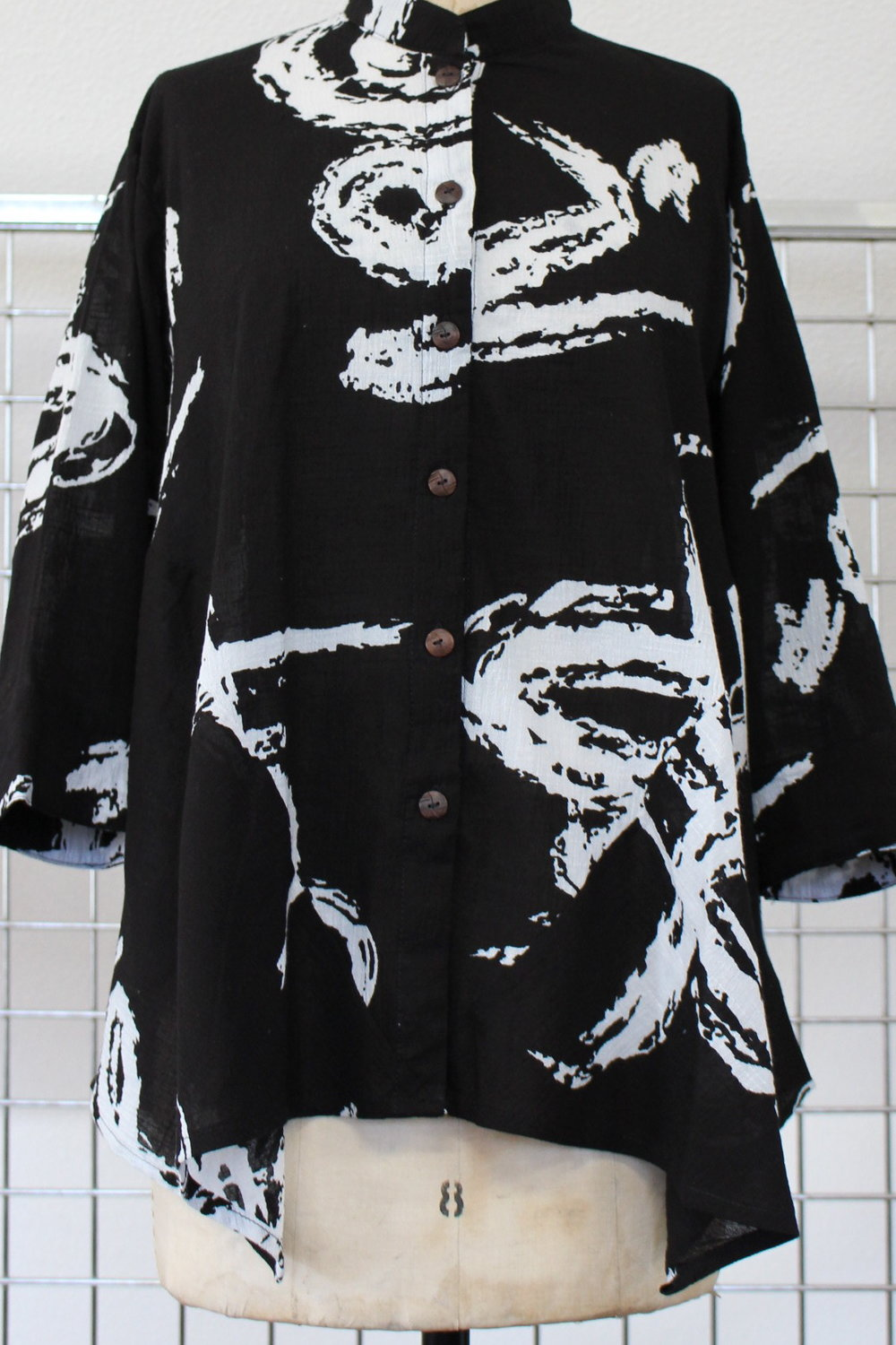 HA - 177   Mao Collar Jacket      S/MM/L   XL       Black