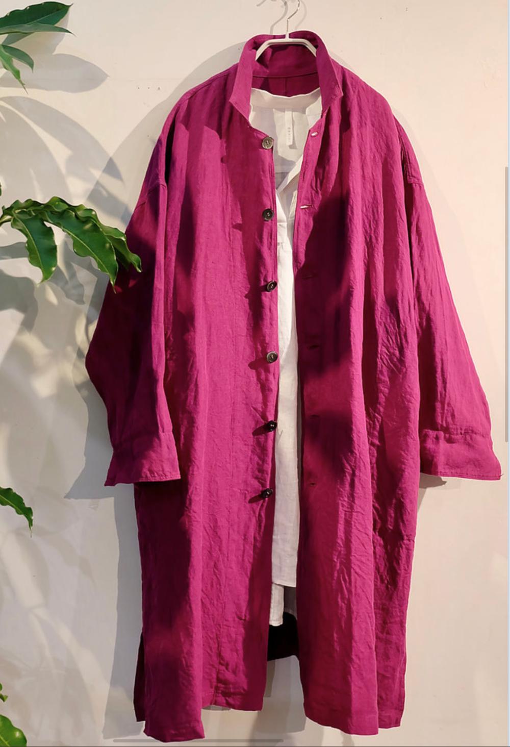 Linen Coat - Linen 100%