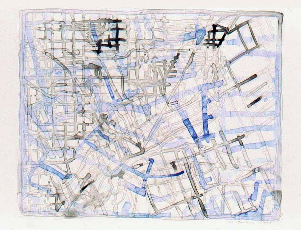 PATHS MAP DRAWINGS Nancy Bonior