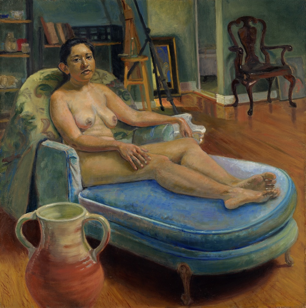 On the Blue Chaise