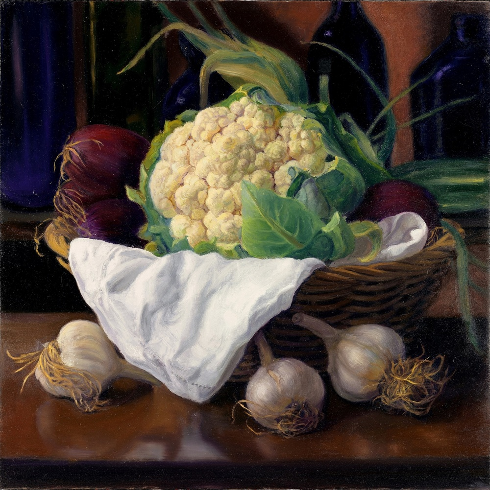 Cauliflower in a Basket