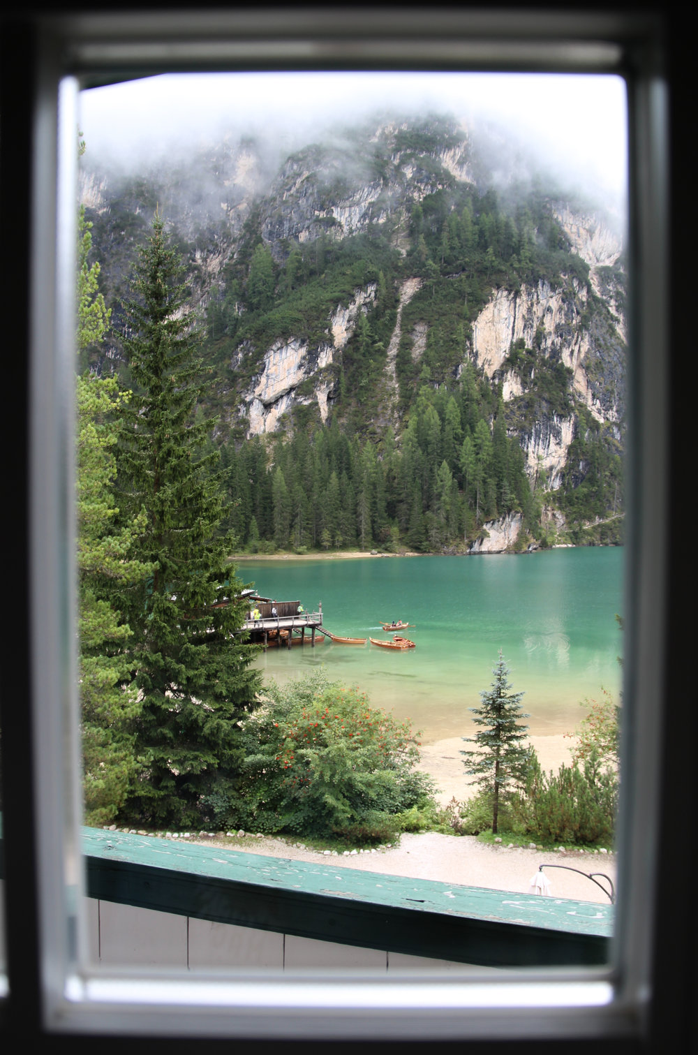 window view of lake braies