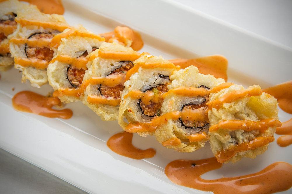 Golden Spicy Tuna Roll