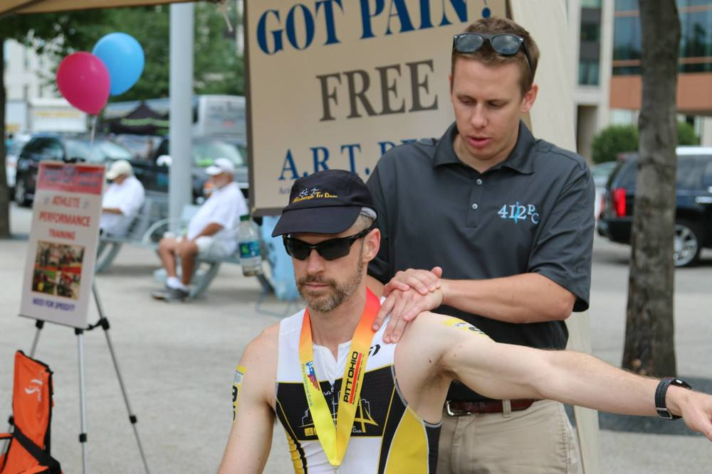 dr. ryan leach at the pittsburgh triathlon 2015