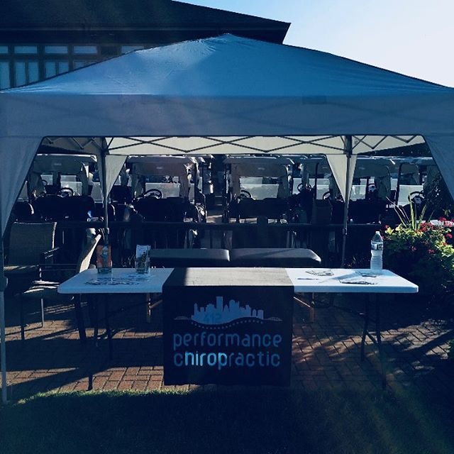 It was a hot one, but we still had a blast working the #MDA golf outing at #southpointegolfclub!  Big thanks to Darren Duhnke for coordinating and inviting us, and the Muscular Dystrophy Association for putting on this even for such a fantastic cause.  Chiropractic is GREAT for golfers- if you're hitting the course in these last days of summer and need a tune up- give us a call!!! #412chiropractic #golfchiro #pittsburghchiropractor