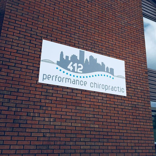 I gotta brag on my sign guy.  Yes I have a sign guy, do you not?  SO excited to update our old sign and we couldn't be happier with the service from Mike Czerniewski at #multiprintmedia and the updated artwork from their team! If you don't have a sign guy- you do now! #412chiropractic #pghchiropractor