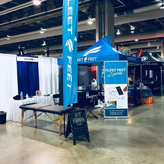 We are down at the Pittsburgh Great Race Expo this afternoon with @fleetfeetpitt and @novacarerehabilitation Fleet feet has an AWESOME setup!  We are providing Active Release and NovaCare is providing Rock Tape!  Come check us out! #412chiropractic #fleetfeetpittsburgh #pghchiropractor #greatraceexpo #pghrunner