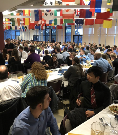 The awards banquet on Saturday evening was attended by over 400 students, alumni, and faculty advisors