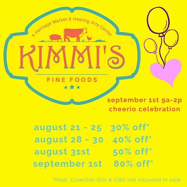 Here's our sale schedule. Please stop in and stock up while we still have some goods! Our dream is to liquidate the inventory. Help us go out with a bang!💥Make sure to stop by September 1st for our last shindig too! #thanksforthememories #supportlocal