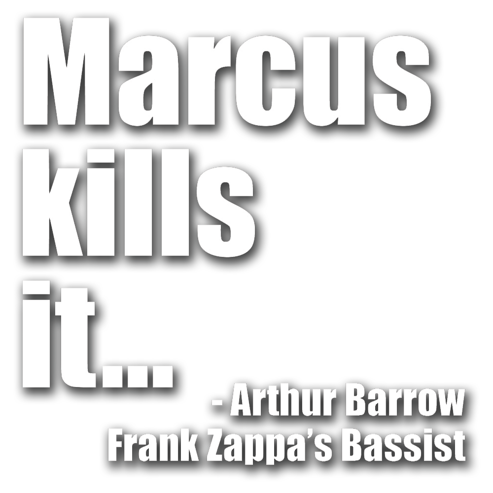 """Marcus kills it, shreds it, and has it for breakfast with a side of nails."" Arthur Barrow"
