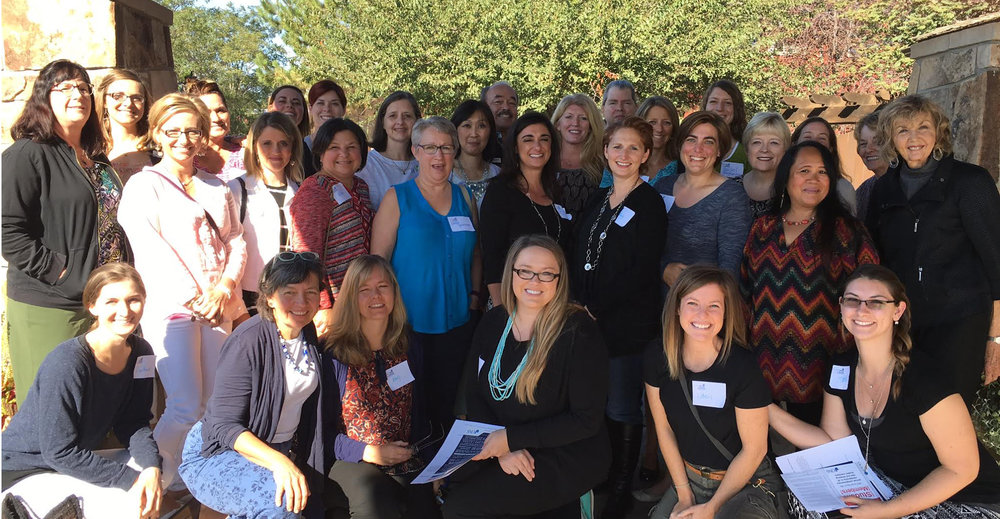 "Terri and attendees of the Intermountain Chapter of Oncology Nursing Society Fall Conference--Terri delivered the Keynote Address ""A Crooked Smile: Facing Change with Grace and Humor."""