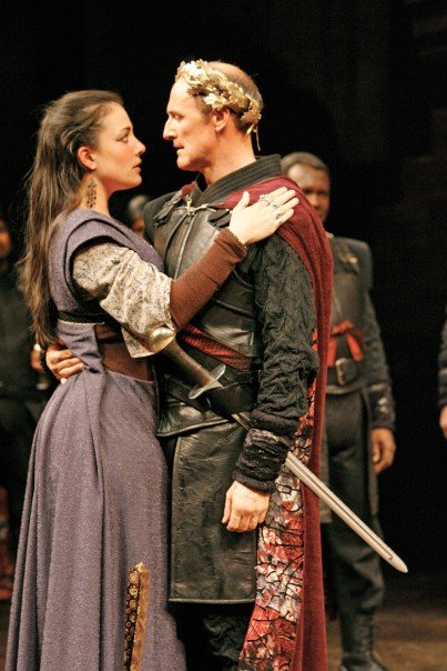 Nicola and Colm Feore in Coriolanus at the Stratford Theatre Festival.
