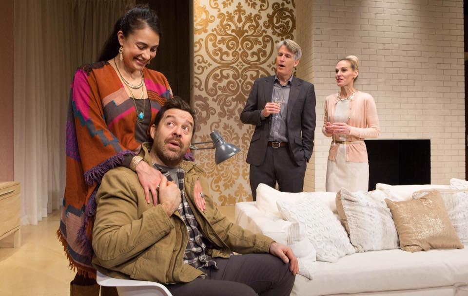Nicola Correia-Damude, Paul Braunstein, Rick Roberts & Philippa Domville in Within the Glass at Tarragon Theatre (Photo by Cylla von Tiedemann)