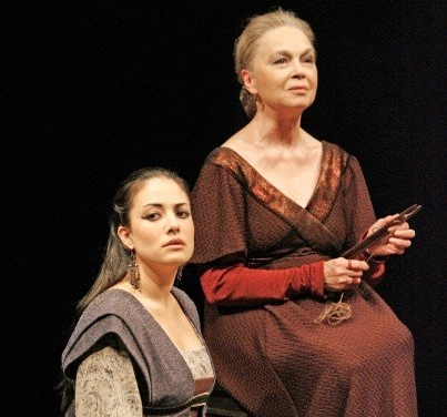 Nicola Correia-Damude and Martha Henry in  Coriolanus  at Stratford Theatre Festival. (Photo by David Hou)