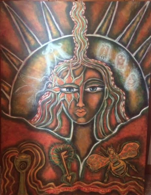 Talisman Painting by Deborah Ward