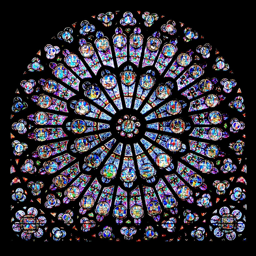 North Rose Window, Notre Dame, Paris