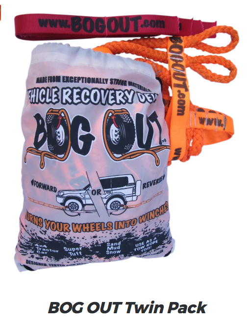 SUCH A FANTASTIC BIT OF RECOVERY GEAR - AND IT FITS IN YOUR GLOVEBOX!! TURN YOUR WHEELS INTO WINCHES!!! - BOGOUT VEHICLE RECOVERY KIT