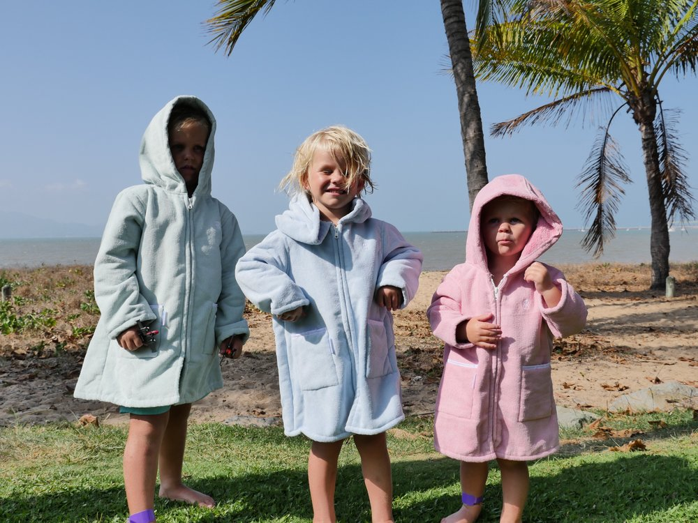 KIDS BEACHROBES - FUN, LIGHTWEIGHT, QUICK DRYING, TRENDY AND THE KIDS ABSOLUTELY LOVE THEM!!!!