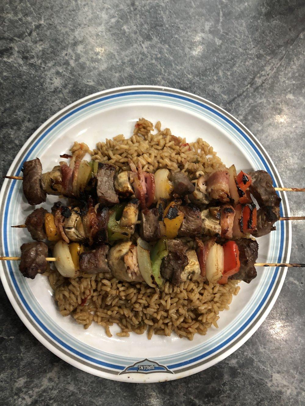 Kebabs & Rice