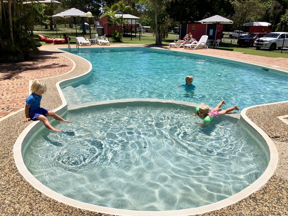 Fantastic pool and kids pool at BIG4 Byron Holiday Park